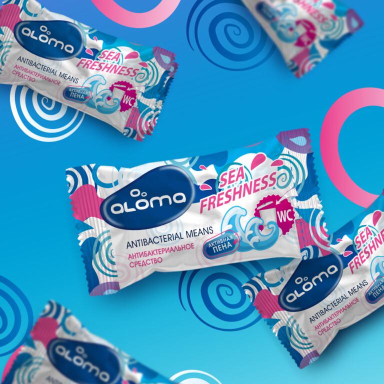 Portfolio Packaging design for ALOMA